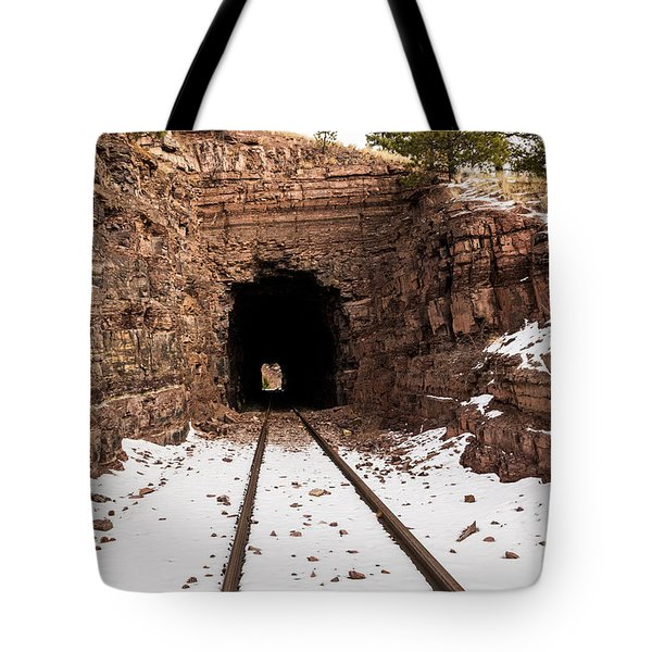 Old Railroad Tunnel Tote Bag by Sue Smith