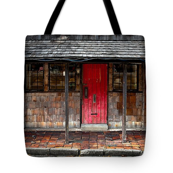 Old Red Door Tote Bag by Christopher Holmes