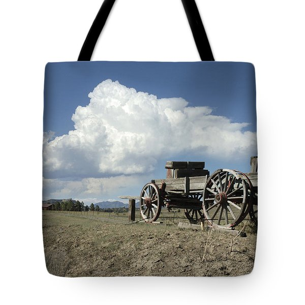 Old Wagon Out West Tote Bag by Jerry McElroy