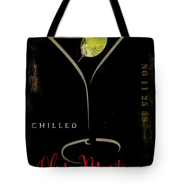 Olive Martini Tote Bag by Mindy Sommers