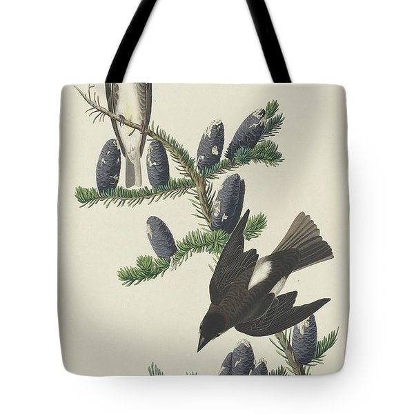 Olive-sided Flycatcher Tote Bag by John James Audubon