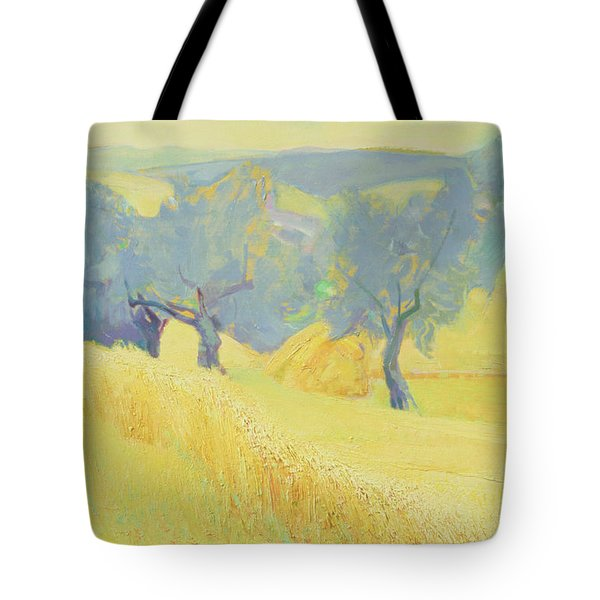 Olive Trees In Tuscany Tote Bag by Antonio Ciccone
