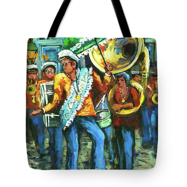Olympia Brass Band Tote Bag by Dianne Parks