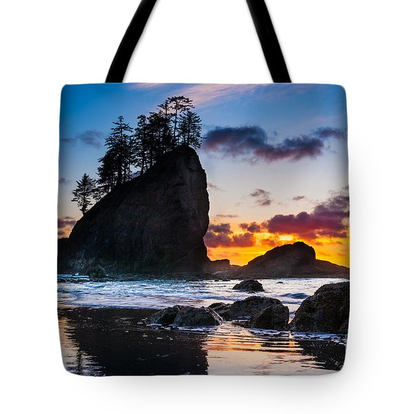 Olympic Sunset Tote Bag by Inge Johnsson