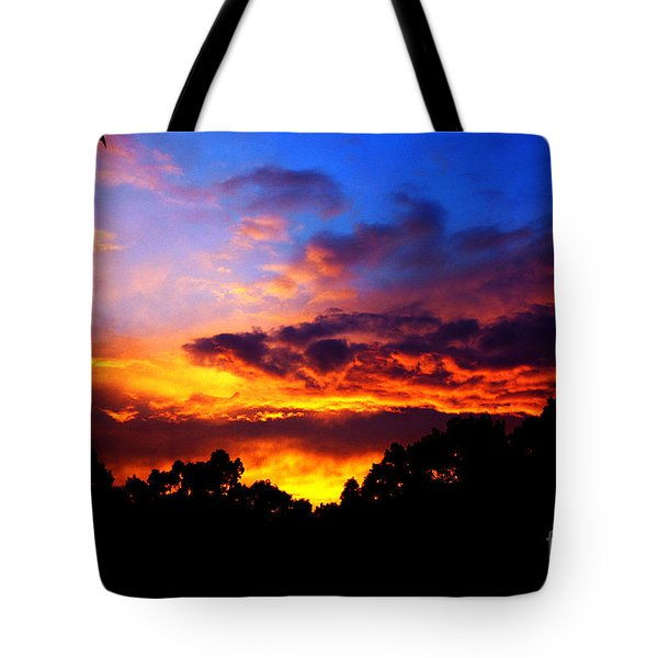 Ominous Sunset Tote Bag by Clayton Bruster