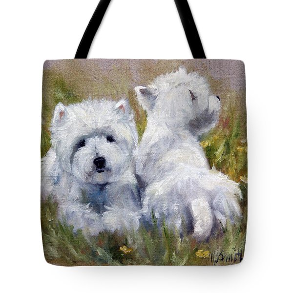 On The Lawn Tote Bag by Mary Sparrow
