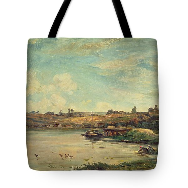On The Loire Tote Bag by Charles Francois Daubigny