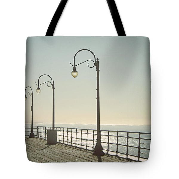 On The Pier Tote Bag by Linda Woods
