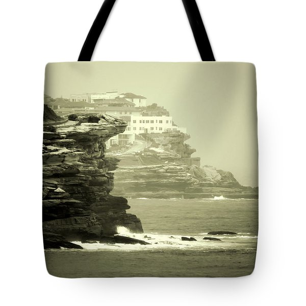 On The Rugged Cliffs Tote Bag by Holly Kempe