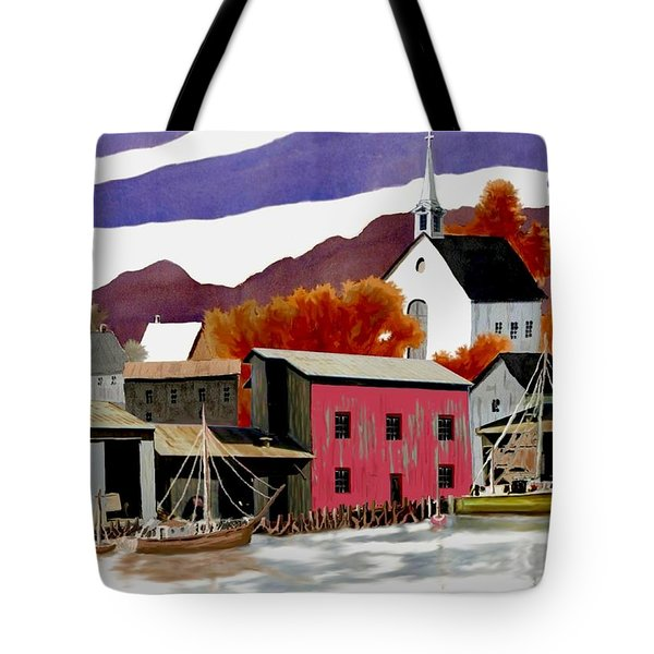 On the Waterfront Tote Bag by Ronald Chambers