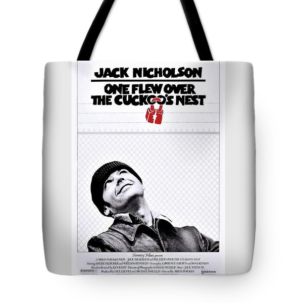 One Flew Over The Cuckoo's Nest Tote Bag by Movie Poster Prints