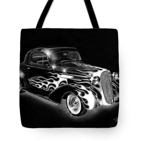 One Hot 1936 Chevrolet Coupe Tote Bag by Peter Piatt