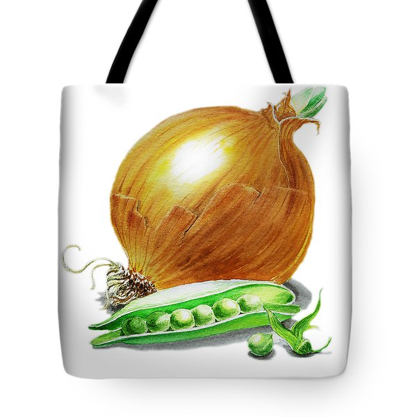 Onion And Peas Tote Bag by Irina Sztukowski