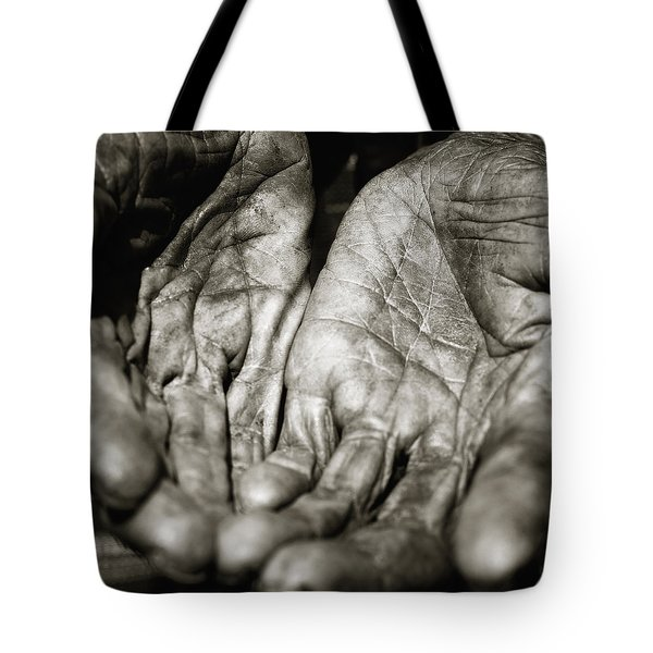 Open Hands Tote Bag by Skip Nall