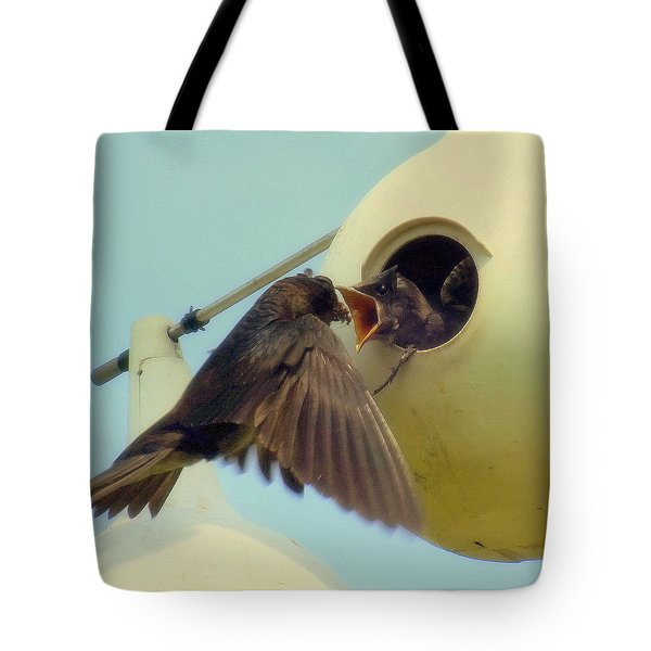 Open Wide Tote Bag by KAREN WILES