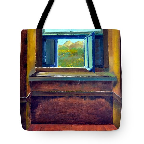 Open Window Tote Bag by Michelle Calkins