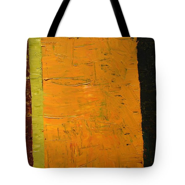 Orange And Brown Tote Bag by Michelle Calkins