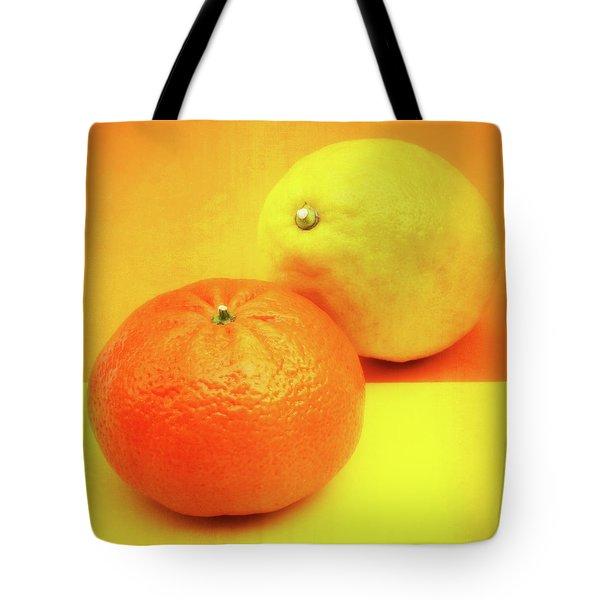 Orange And Lemon Tote Bag by Wim Lanclus