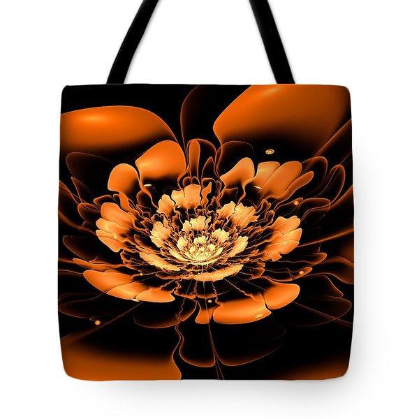 Orange Flower  Tote Bag by Anastasiya Malakhova