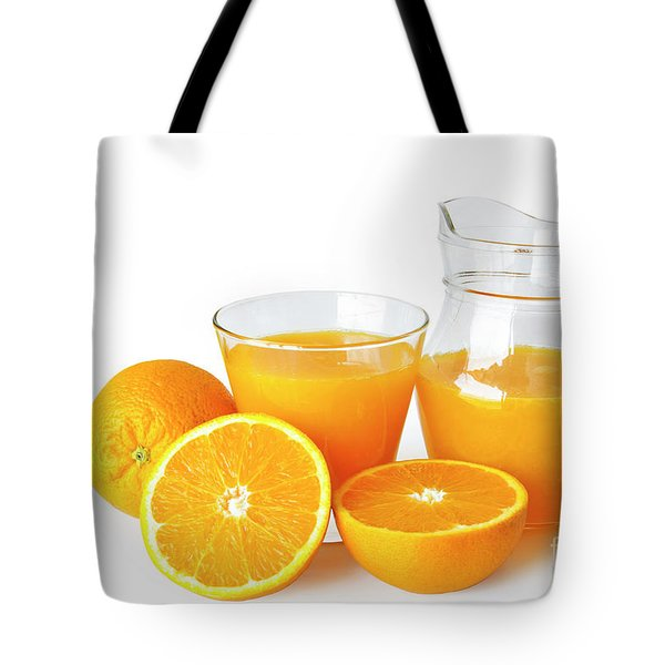 Orange Juice Tote Bag by Carlos Caetano