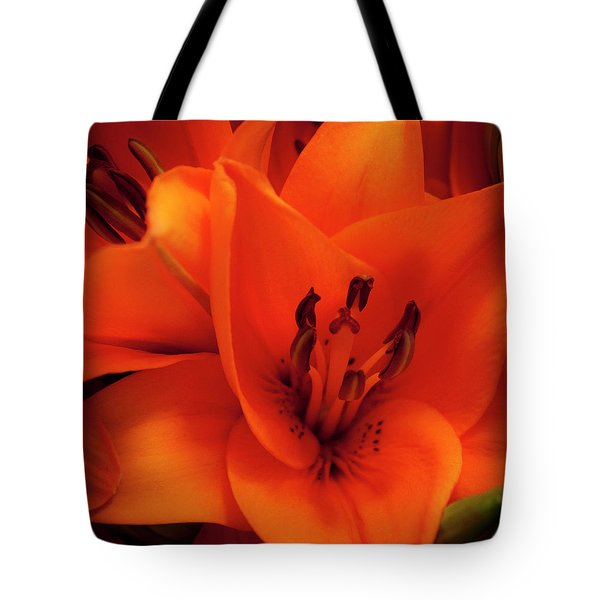 Orange Lily Tote Bag by David Patterson