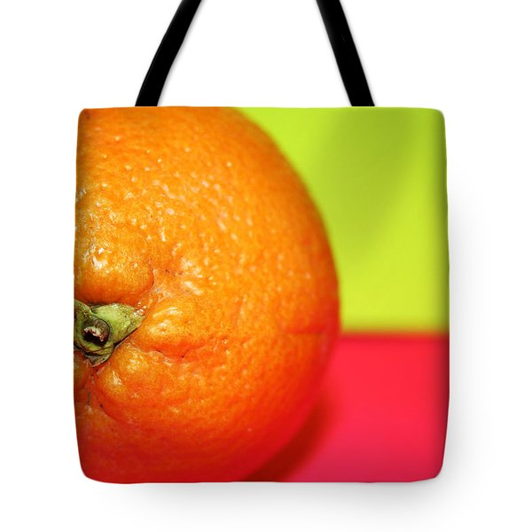 Orange Tote Bag by Linda Sannuti
