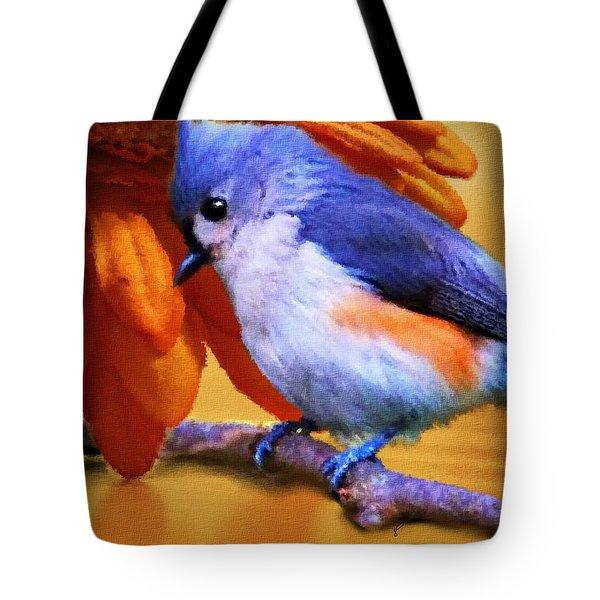 Orange Medley Tote Bag by Jai Johnson
