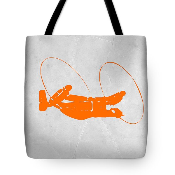 Orange Plane Tote Bag by Naxart Studio