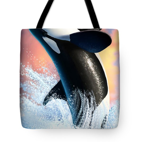 Orca 1 Tote Bag by Jerry LoFaro