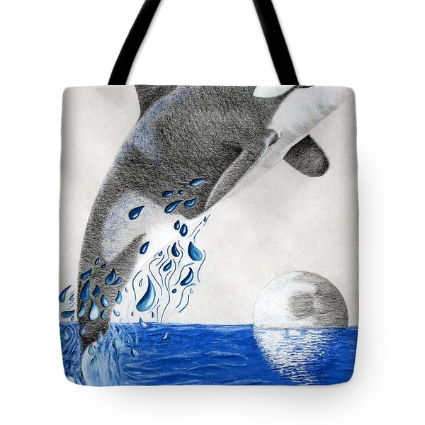 Orca Tote Bag by Mayhem Mediums