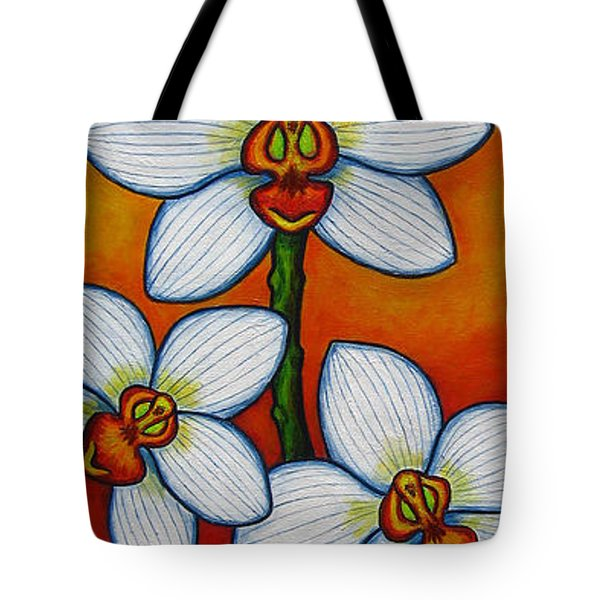 Orchid Oasis Tote Bag by Lisa  Lorenz