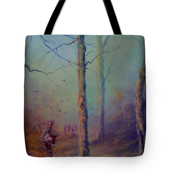 Orcs Of The White Hand Tolkien The Lord Of The Rings Inspired Art Tote Bag by Joe  Gilronan