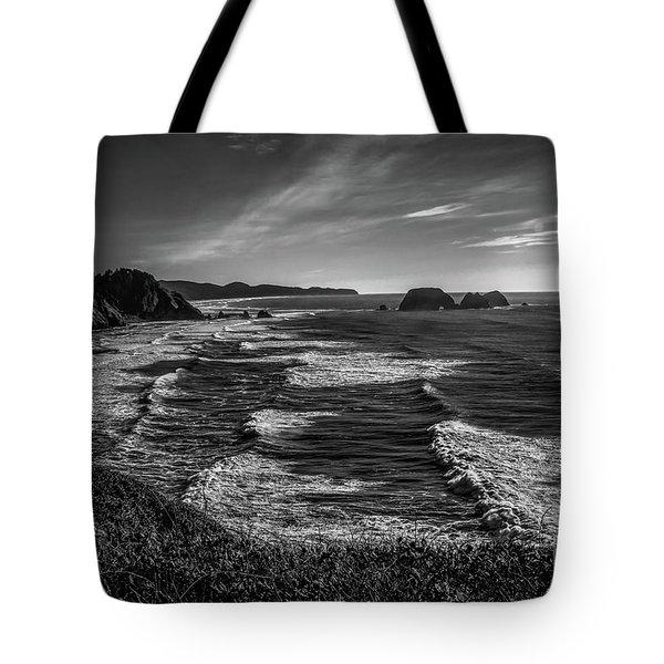 Oregon Coast At Sunset Tote Bag by Jon Burch Photography