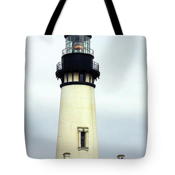 Oregon Coast Lighthouses - Yaquina Head Lighthouse Tote Bag by Christine Till