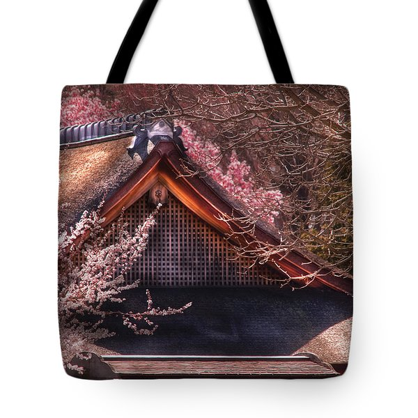 Orient - Shofuso House Tote Bag by Mike Savad