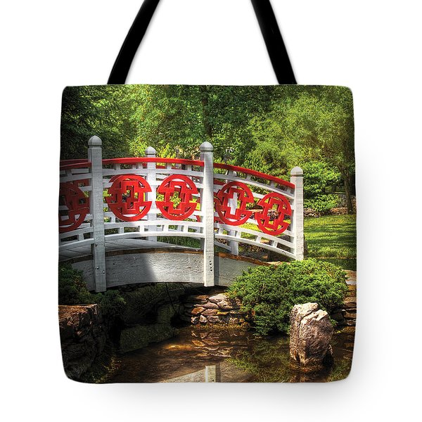 Orient - Bridge - Tranquility Tote Bag by Mike Savad