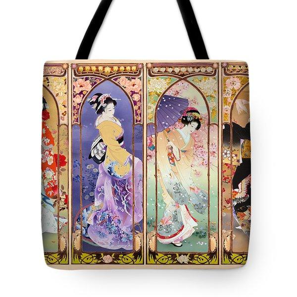 Oriental Gate Multi-pic Tote Bag by Haruyo Morita