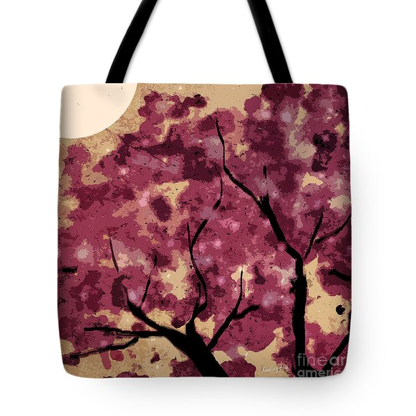 Oriental Plum Blossom Tote Bag by Xueling Zou