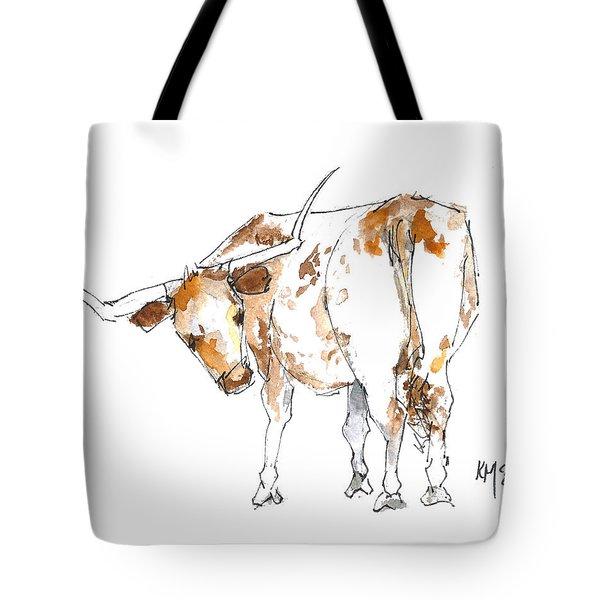 Original Texas Whimsey Tote Bag by Kathleen McElwaine