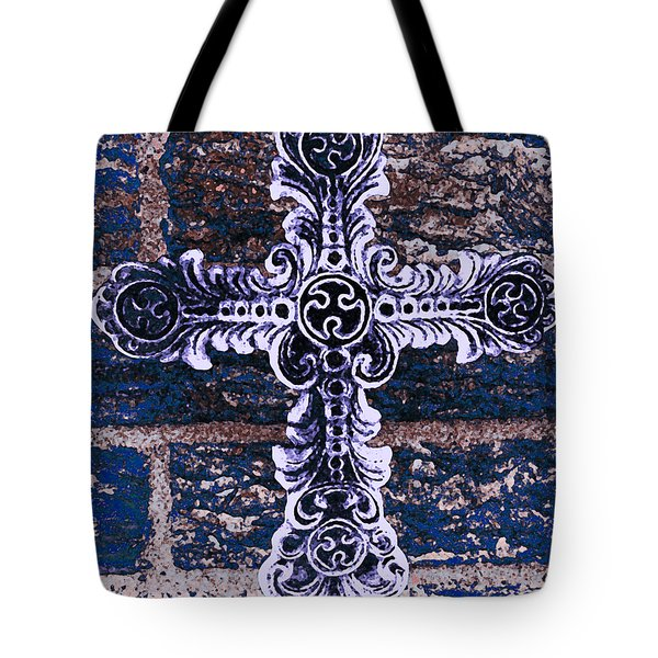 Ornate Cross 2 Tote Bag by Angelina Vick