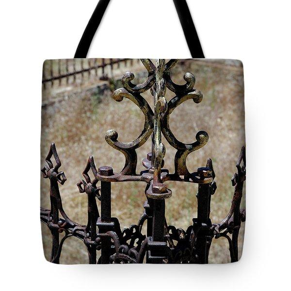 Ornate Iron Works Virginia City Nv Tote Bag by LeeAnn McLaneGoetz McLaneGoetzStudioLLCcom