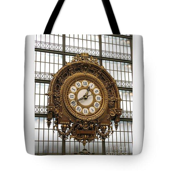 Ornate Orsay Clock Tote Bag by Ann Horn