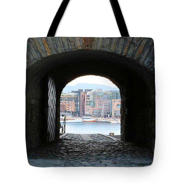 Oslo Castle Archway Tote Bag by Carol Groenen