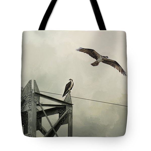Ospreys At Pickwick Tote Bag by Jai Johnson