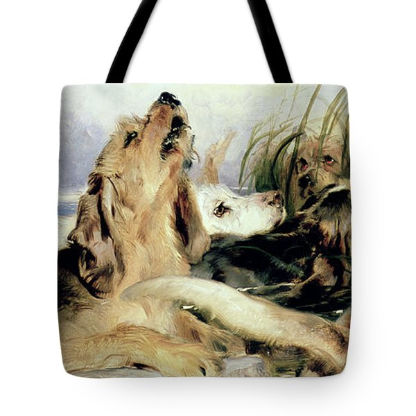 Otter Hounds Tote Bag by Sir Edwin Landseer