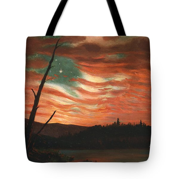 Our Banner In The Sky Tote Bag by Frederic Edwin Church
