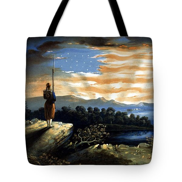 Our Heaven Born Banner Tote Bag by War Is Hell Store