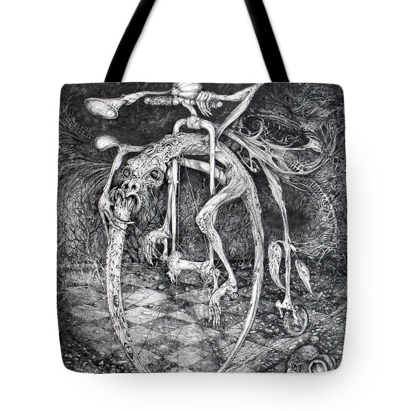 Ouroboros Perpetual Motion Machine Tote Bag by Otto Rapp