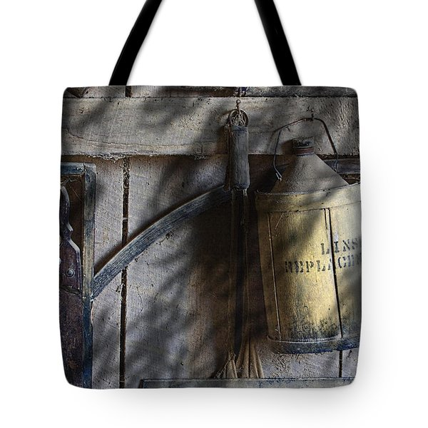 Out In The Barn Tote Bag by Tom Mc Nemar