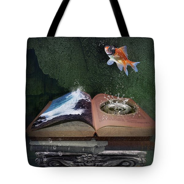 Out Of The Pond Tote Bag by Mary Hood